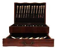 TOWLE STERLING SILVER OLD MASTER  FLATWARE SET 115 PCS