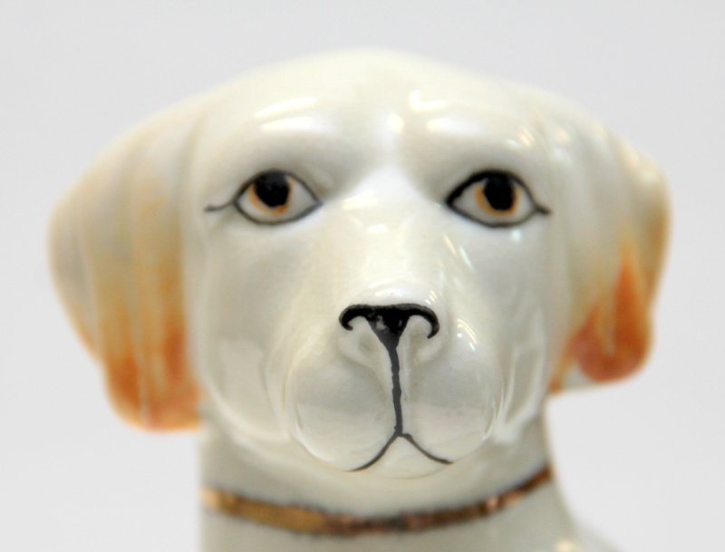 PAIR OF STAFFORDSHIRE PORCELAIN DOGS - 5