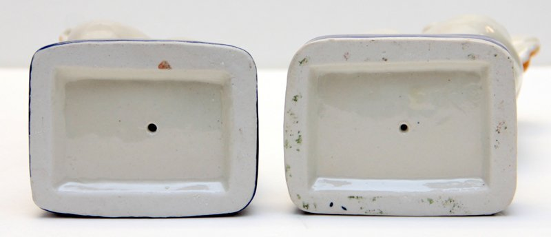 PAIR OF STAFFORDSHIRE PORCELAIN DOGS - 9