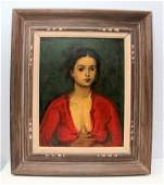 MOSES SOYER OIL ON CANVAS