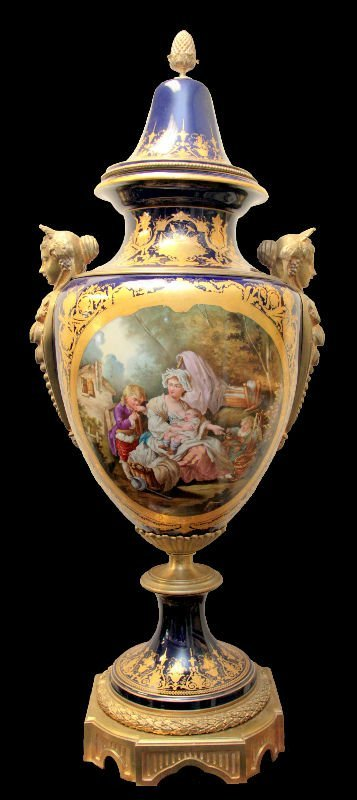 Sevres Bronze & Porcelain Covered Urn