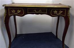 Louis XV Style Bronze Mounted Desk W/ Leather Top