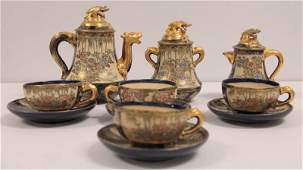 Antique Eleven Piece Satsuma Teaset