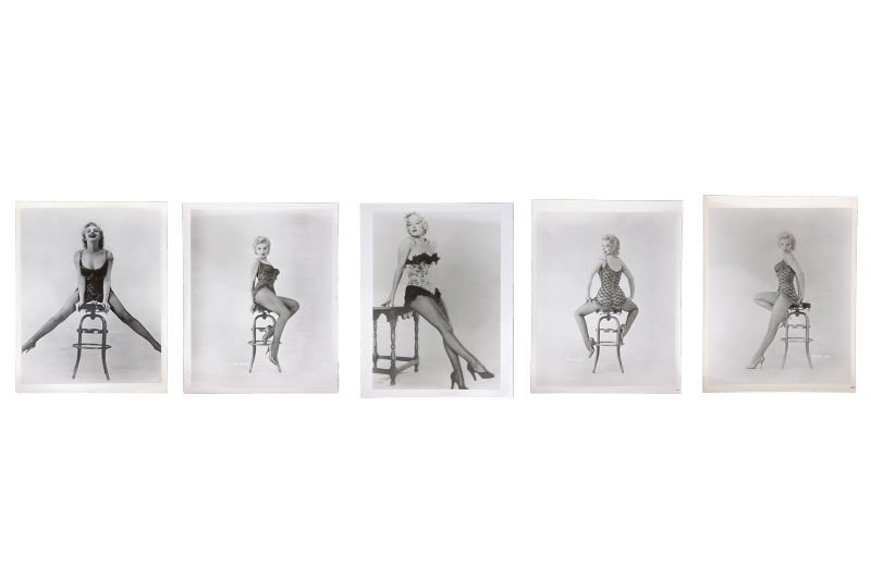 Lot of 5 Marilyn Monroe photographs