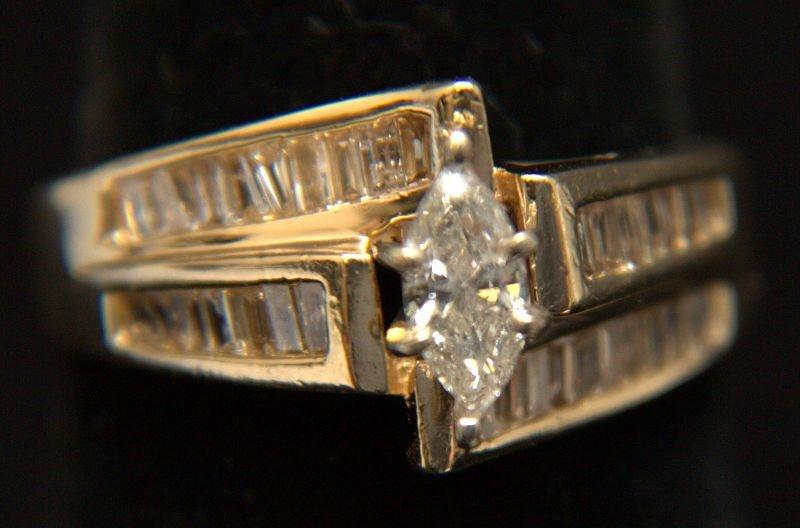 14 Kt. YG 1.25 Ct Diamond Ring