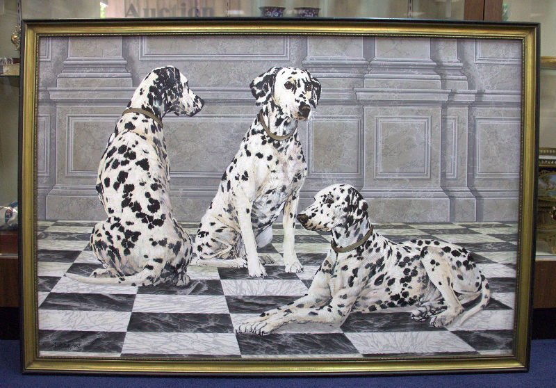 """Anderson - Oil Painting on Canvas - """"Dalmatians"""""""