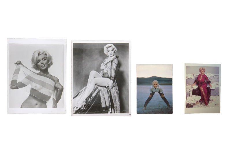 Lot of 4 Marilyn Monroe photographs