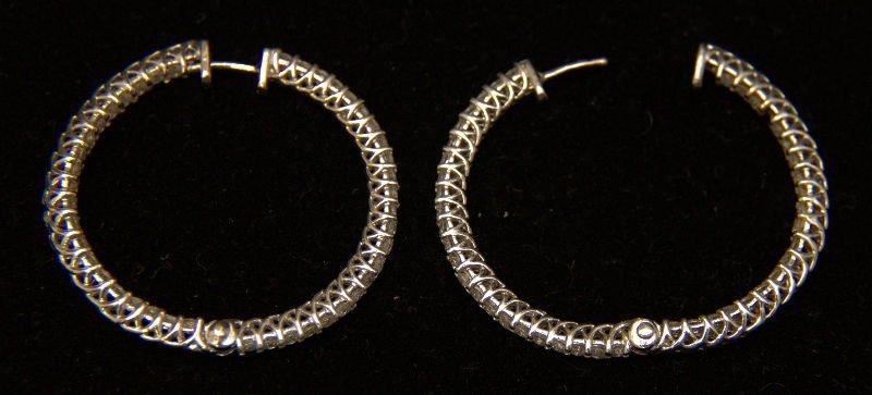 14 Kt. WG 4.0 Ct. Diamond Earrings
