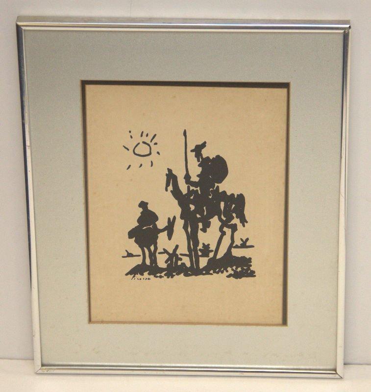 Picasso Lithograph of Don Quixote