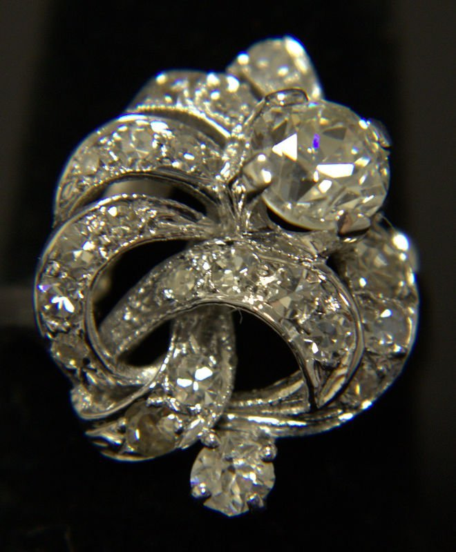 14 Kt. WG & 1.3 Ct. DIA Cocktail Ring
