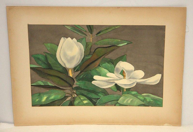 Ray Ward - Watercolor of Magnolias