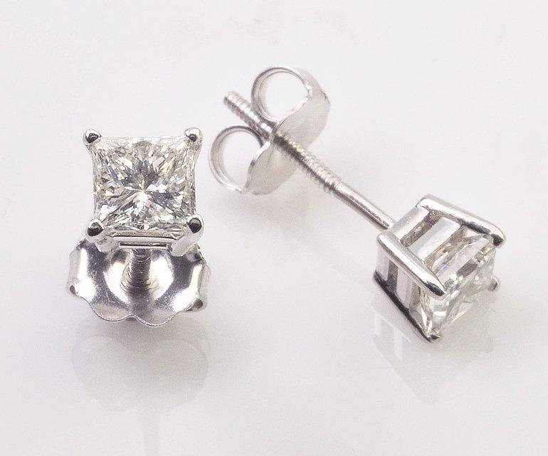 Contemporary Diamond Stud Earrings 1.00cts