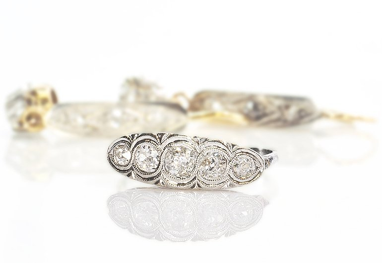 Unique Victorian Diamond Wedding Suite 1.00Cts