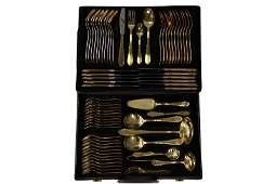 Solingen German Gold Plated Flatware Set