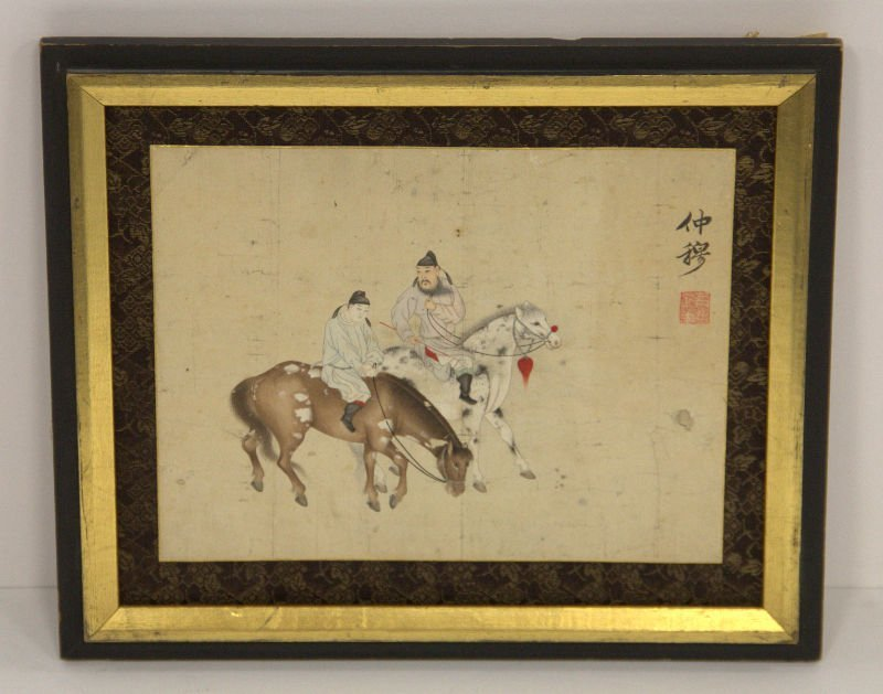 Antique Chinese hand painted watercolor on rice paper