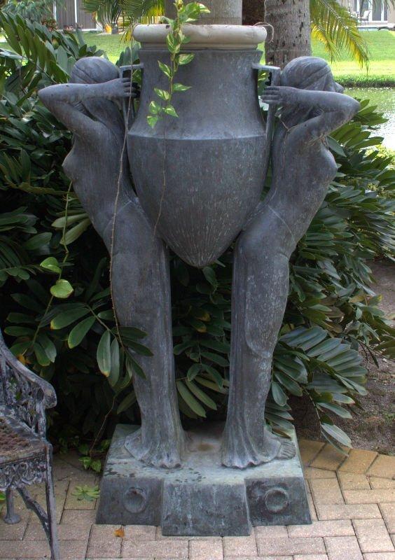 Villanis signed large bronze Egyptian Revival figural