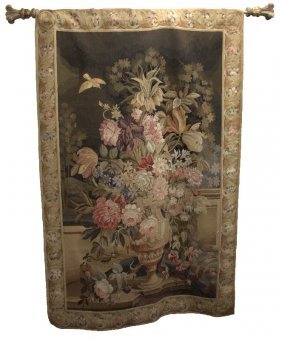 French Hand Woven Aubusson Wall Tapestry