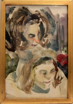 Beautiful Watercolor Mother And Child