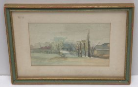 Nice 19th Century Watercolor