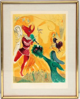 "Marc Chagall Lithograph ""the Dance"""