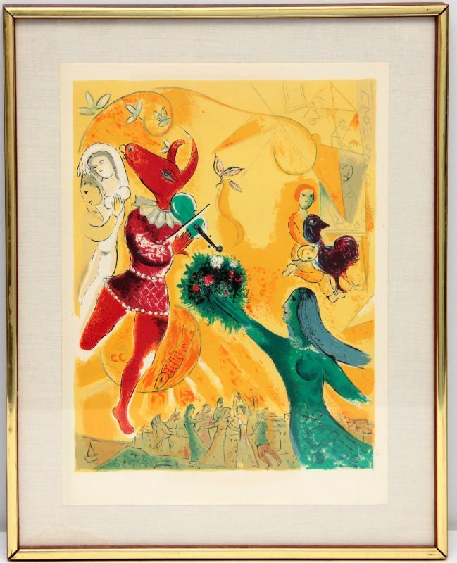 """MARC CHAGALL LITHOGRAPH """"THE DANCE"""""""
