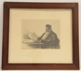 Cilius Anderson Etching Signed And Dated