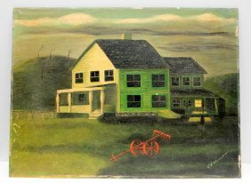 Theodore Wahrman Oil On Board