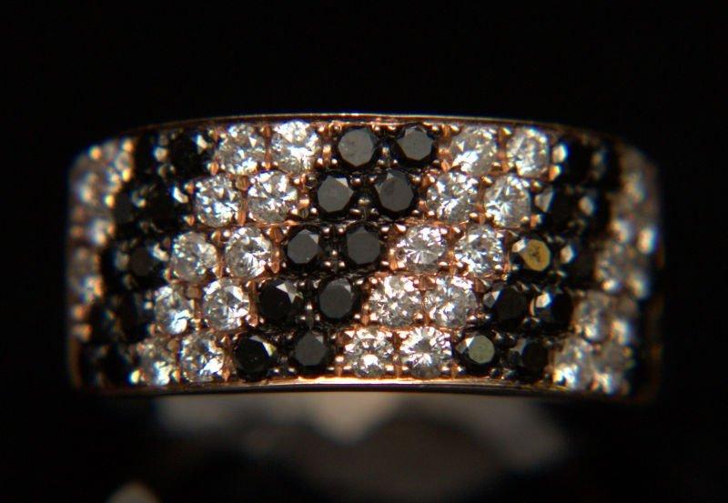 14 Kt. Rose Gold Black & White DIA Ring