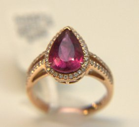 14 Kt. Rose Gold Rubelite Ring