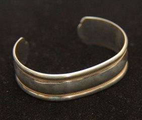 Vintage Tiffany & Co 925 & 14kt Gold Cuff Bracelet