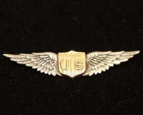 Vintage Tiffany Genuine Usaf Pilot Wings