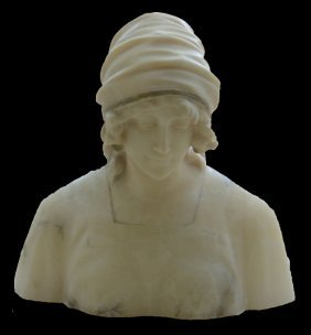Giorgi Alabaster Bust Of A Woman