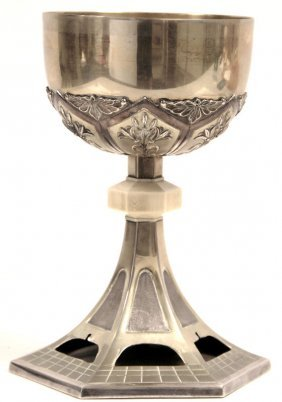 Antique 800 Silver Chalice
