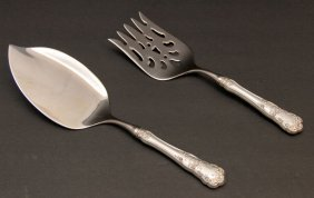 "Gorham ""buttercup"" Sterling Silver Fish Serving Set"