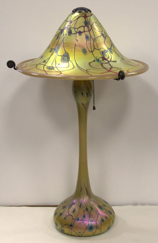 LCT Iridescent Glass Table Lamp
