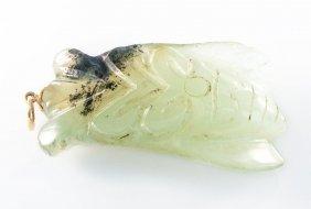 Carved Sakata Nephrite Jade Pendant