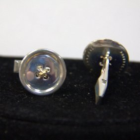 Vintage Tiffany & Co Sterling Button Cufflinks