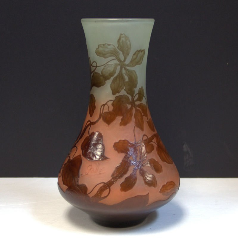 Galle Art Nouveau Glass Vase
