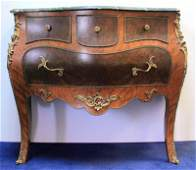 Louis XV Style Bronze Mounted Marble Top Commode