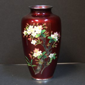 Japanese Cloisonne Ginbar Vase
