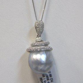 14kt Wg Pearl & Diamond
