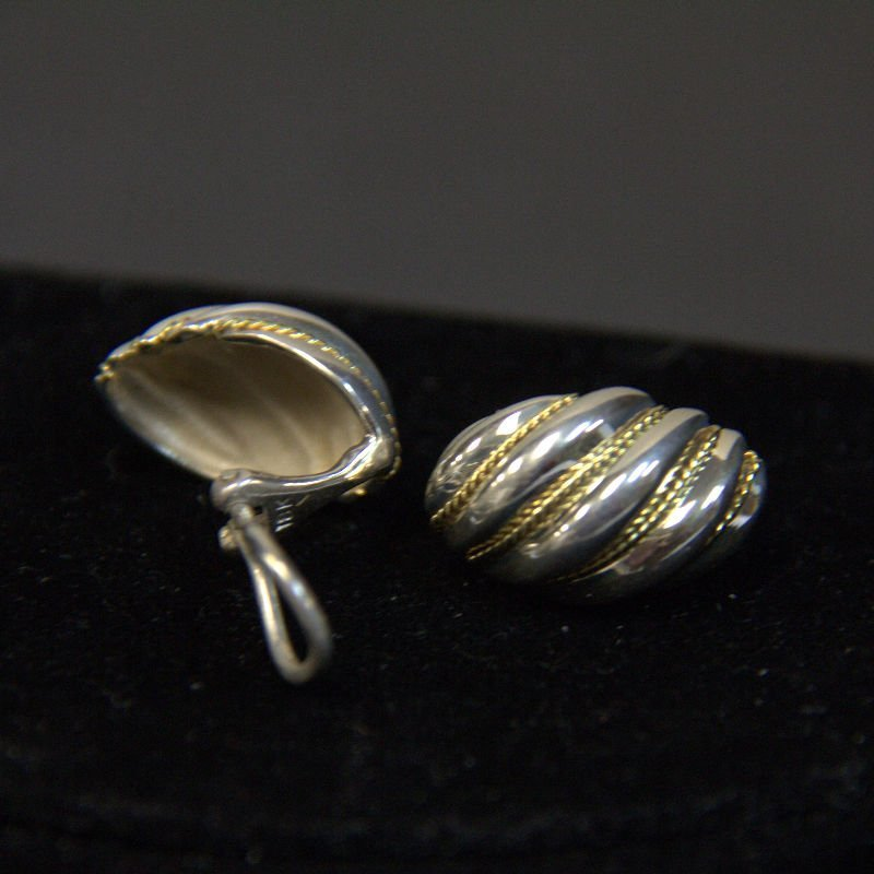 Vintage Tiffany & Co Sterling With 18KT Yellow Gold