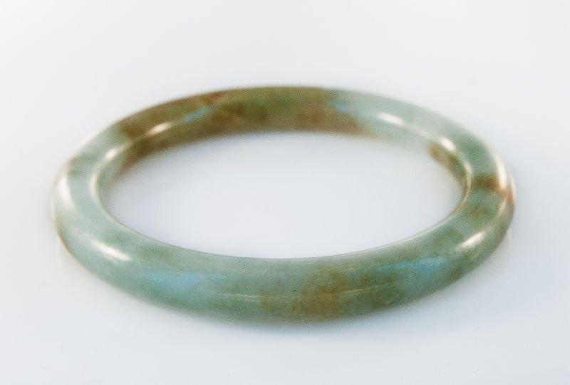 1950's nephrite jade bangle bracelet