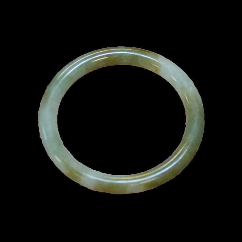 1950's nephrite jade bangle bracelet - 2