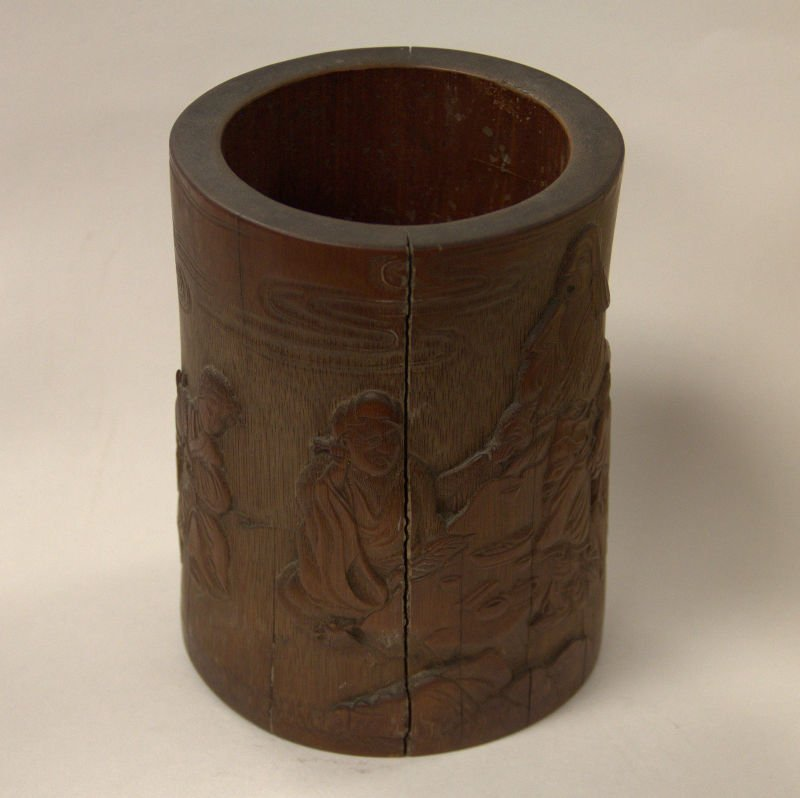 An Inscribed Bamboo Brushpot
