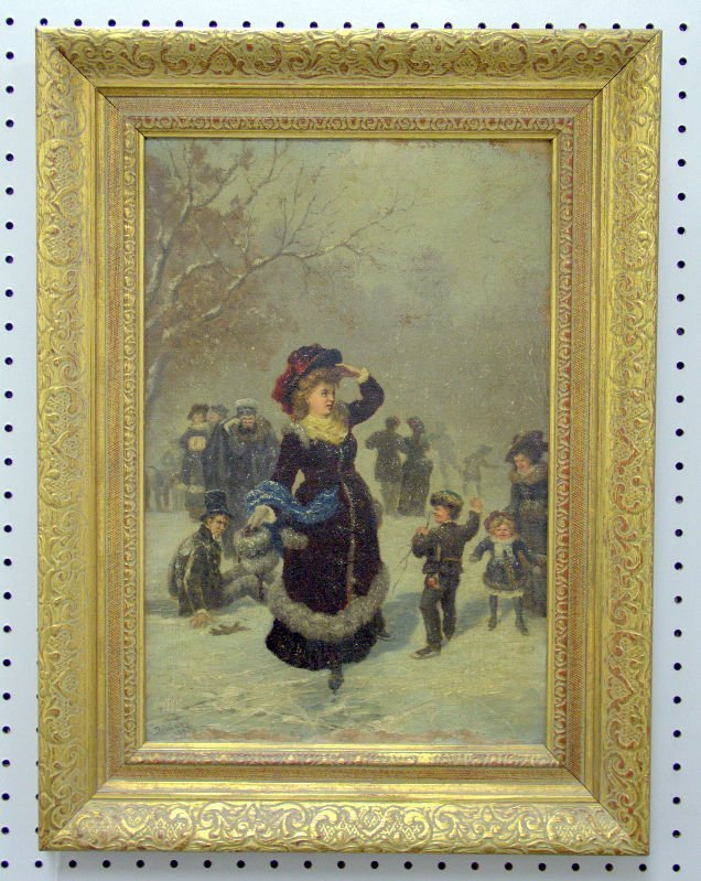19th Century Oil Painting on Canvas - Signed