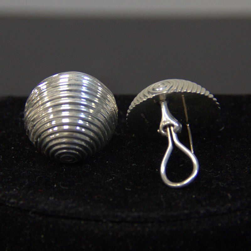 Vintage Tiffany & Co Sterling Swirl Shell Earrings
