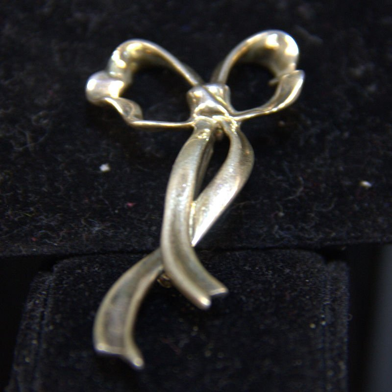 Vintage Tiffany & Co Sterling Bow Pin