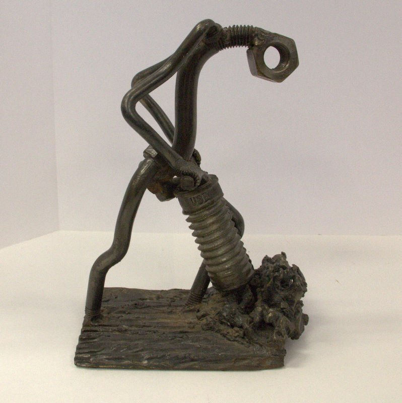 F. Russo Nuts and Bolts sculpture