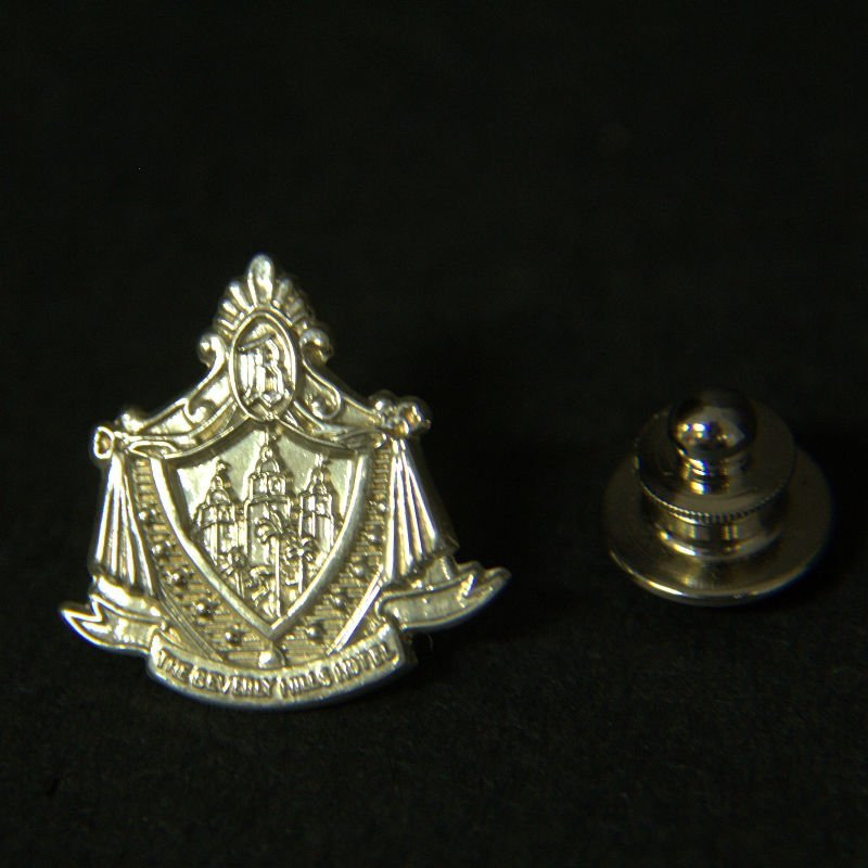 Vintage Tiffany & Co Sterling Beverly Hills Hotel Pin